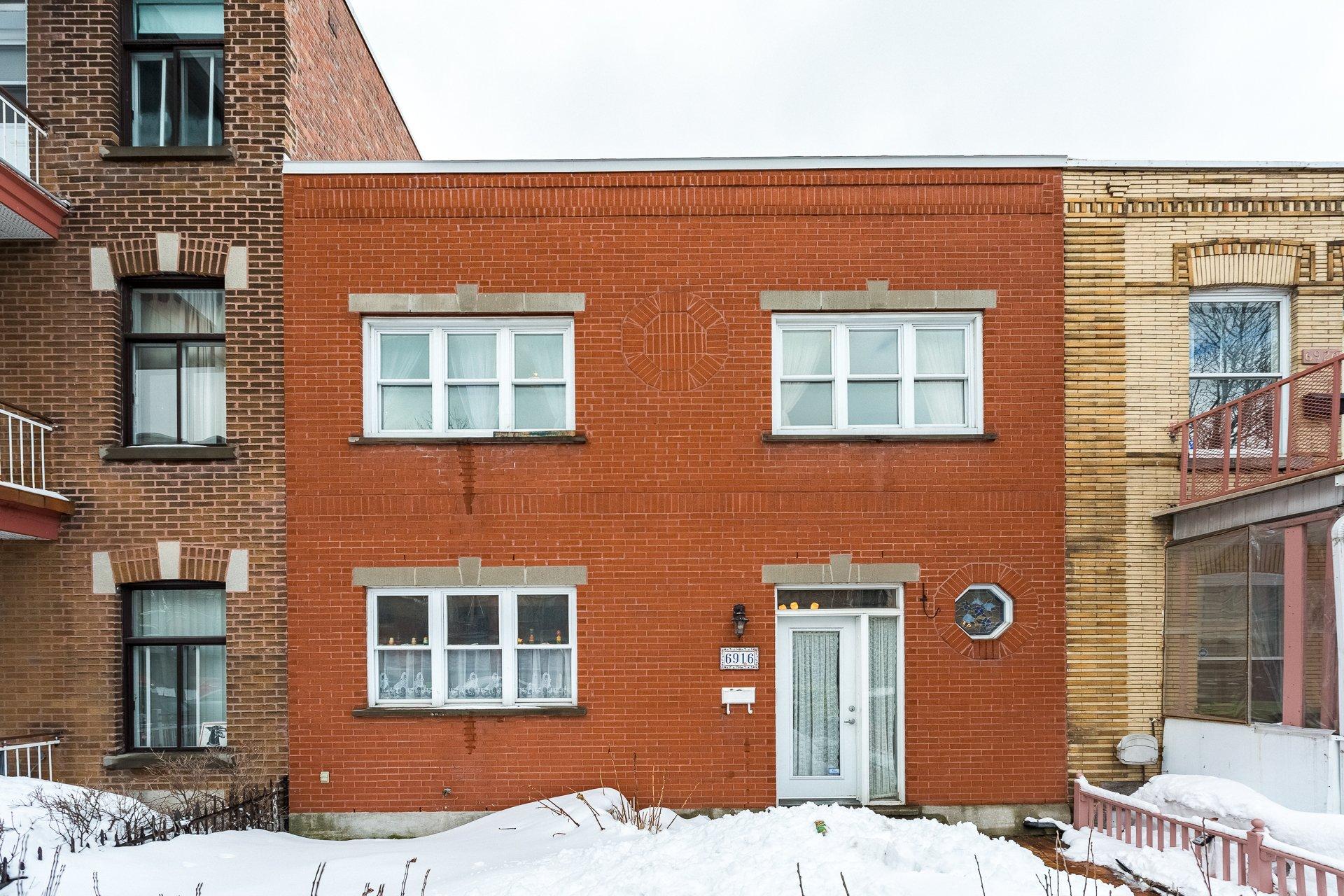 Façade Maison Montréal (Rosemont/La Petite-Patrie)