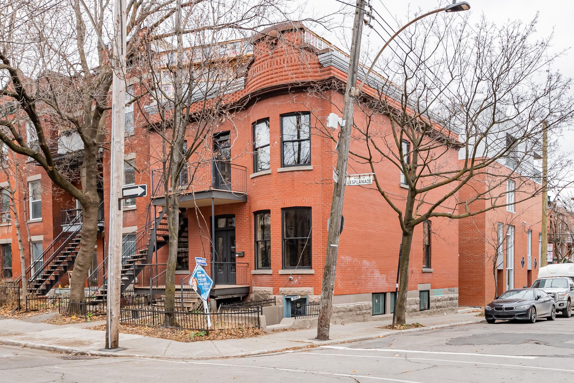 Façade Triplex Montréal (Le Plateau-Mont-Royal)