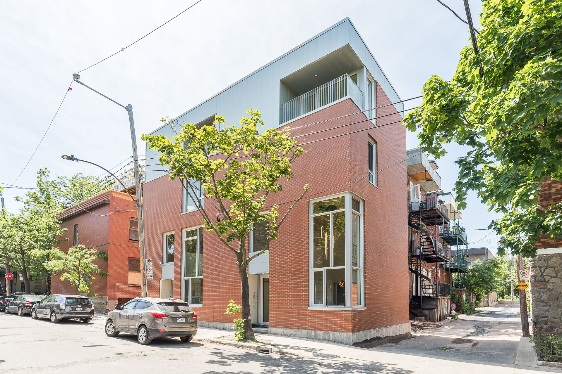 Façade Duplex Montréal (Le Plateau-Mont-Royal)