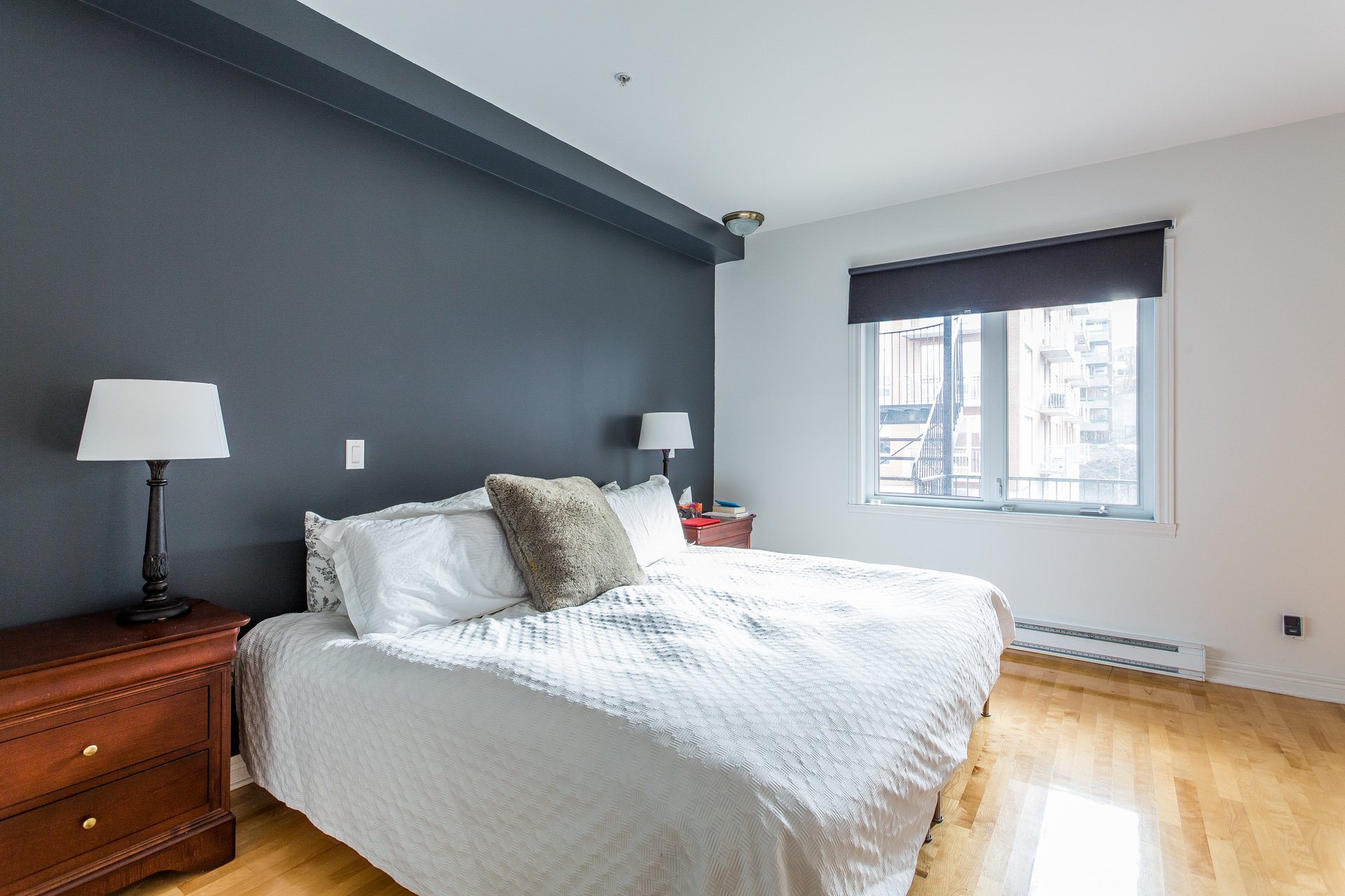 Chambre à coucher principale Condo Montréal (Outremont)