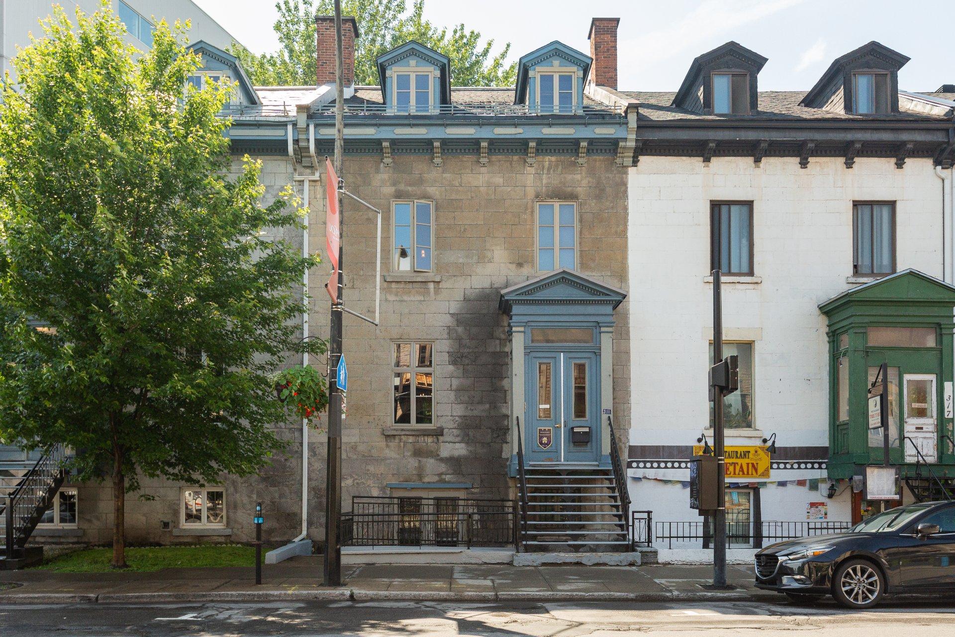Façade Propriété à revenus Montréal (Ville-Marie)