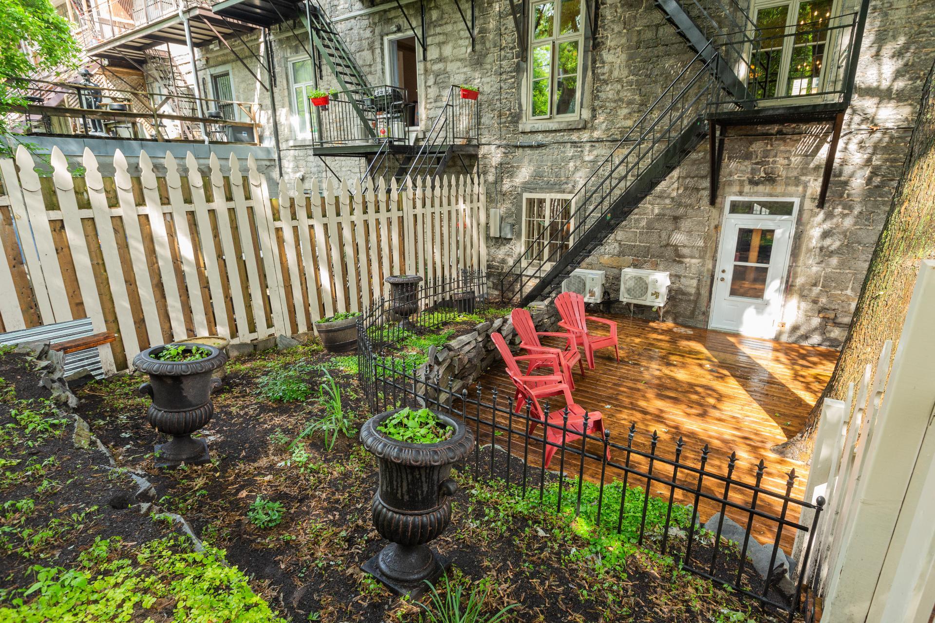Jardin Propriété à revenus Montréal (Ville-Marie)