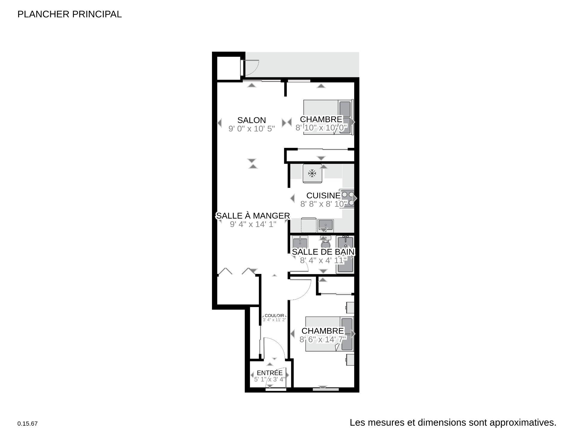 Plan (croquis) Condo Montréal (Le Plateau-Mont-Royal)
