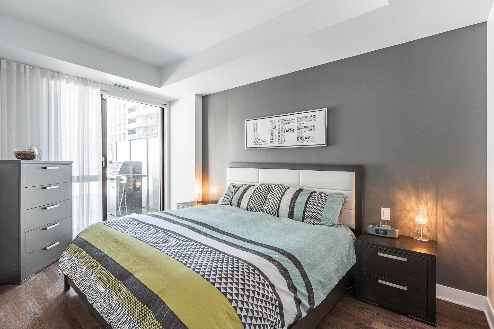 Chambre à coucher principale Condo Montréal (Le Sud-Ouest)