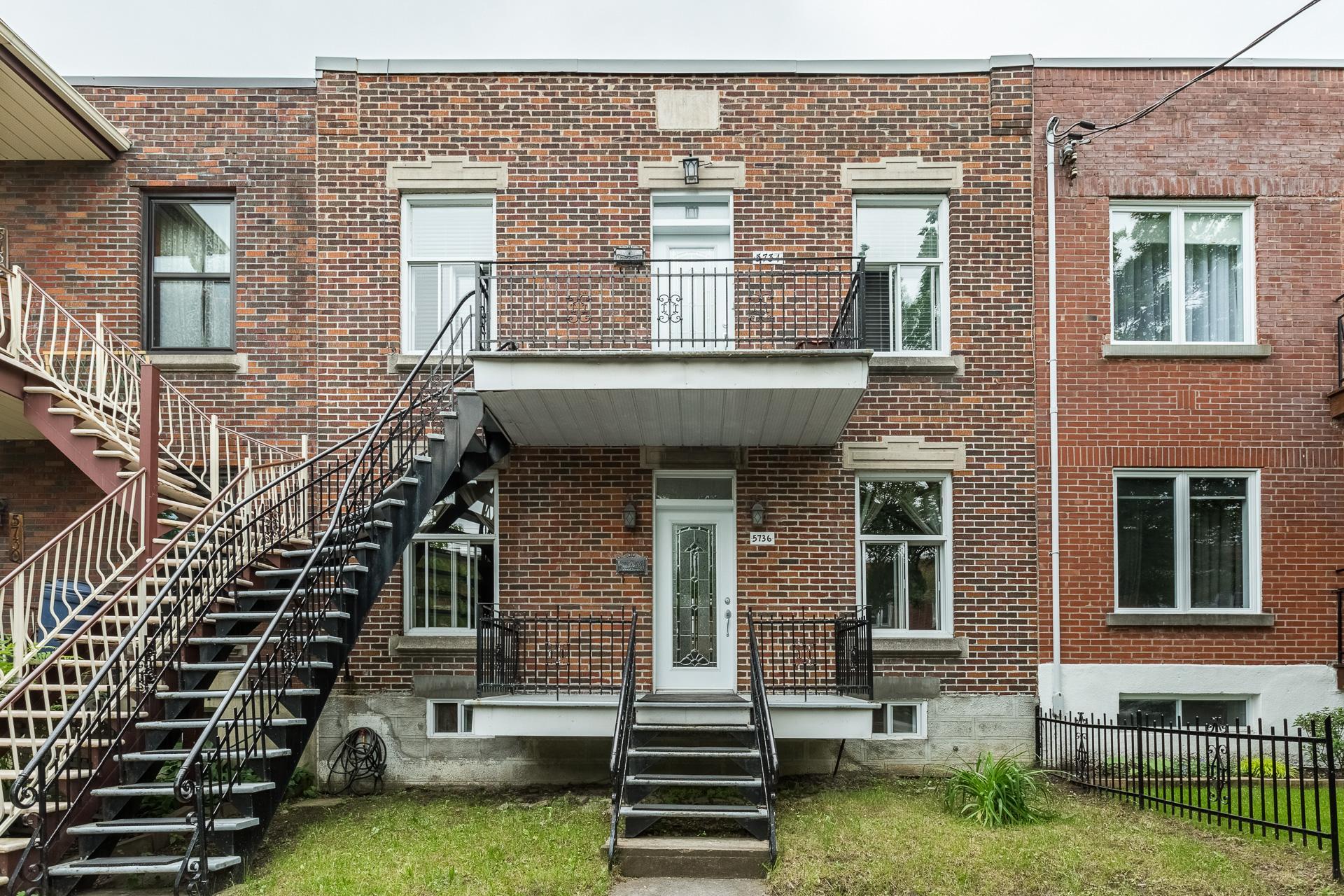 Façade Duplex Montréal (Rosemont/La Petite-Patrie)