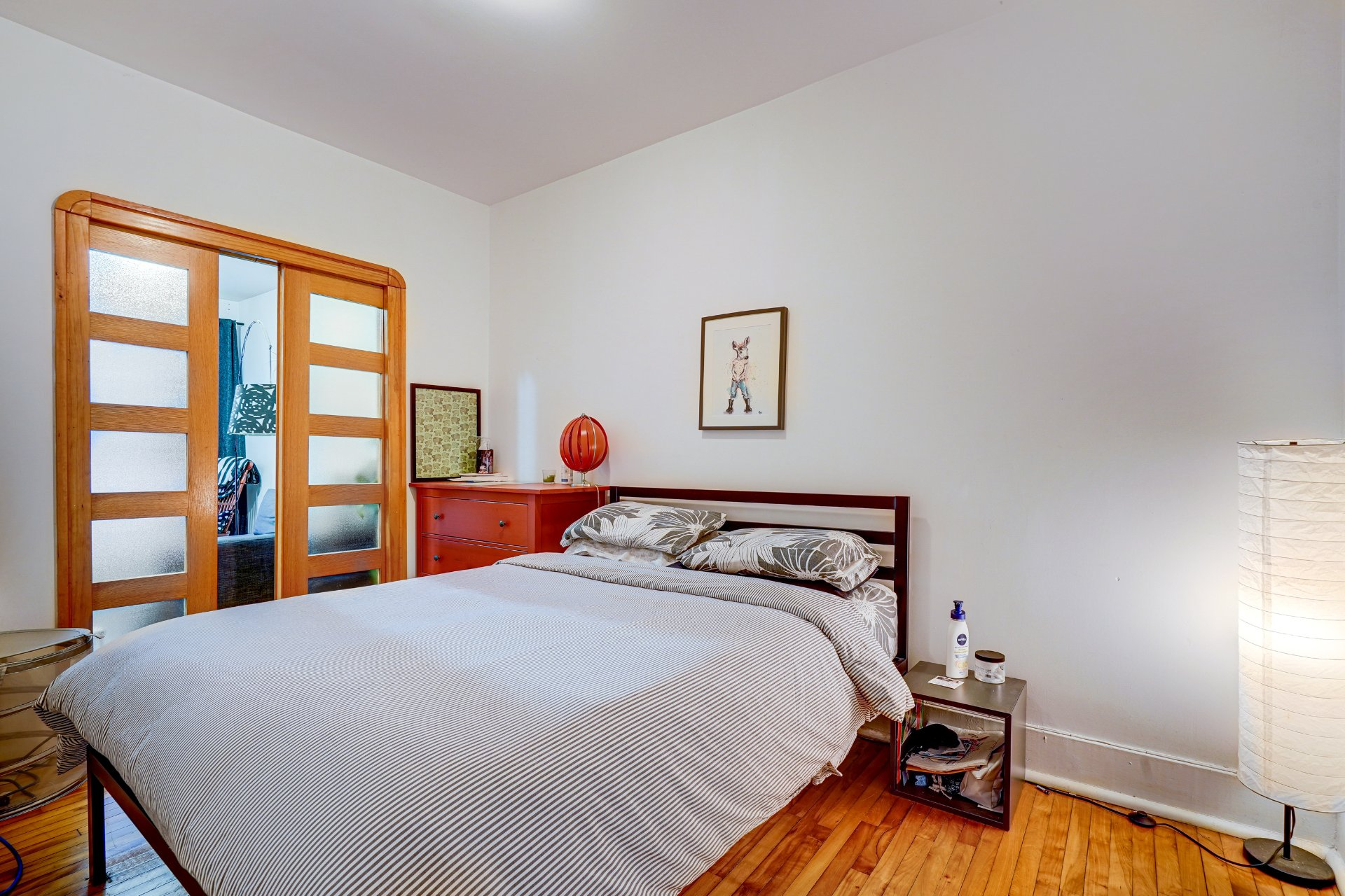 Chambre à coucher principale Triplex Montréal (Rosemont/La Petite-Patrie)