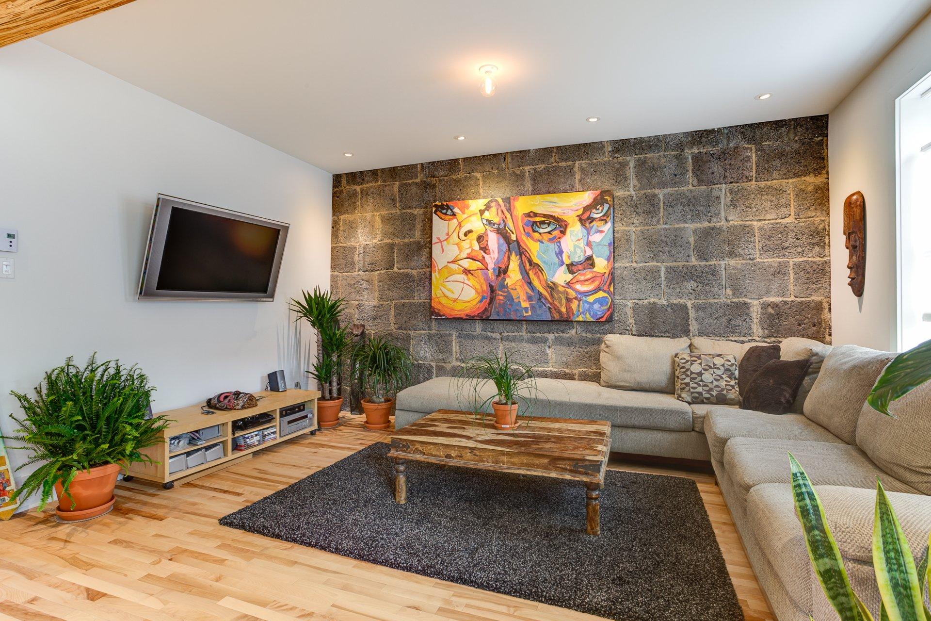 Living room Condo Montréal (Rosemont/La Petite-Patrie)