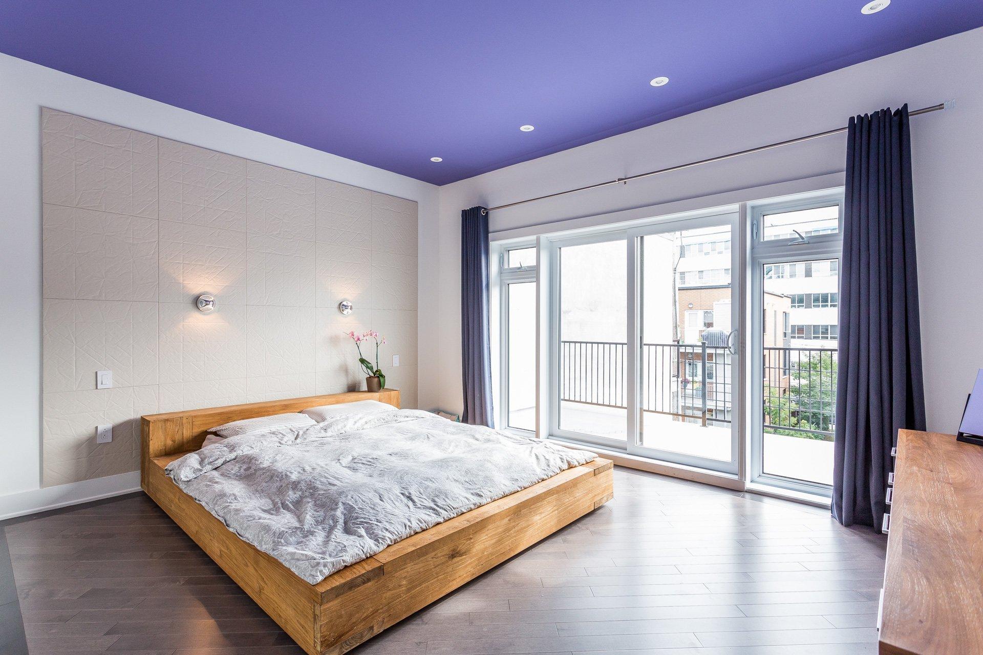Chambre à coucher principale Condo Montréal (Rosemont/La Petite-Patrie)