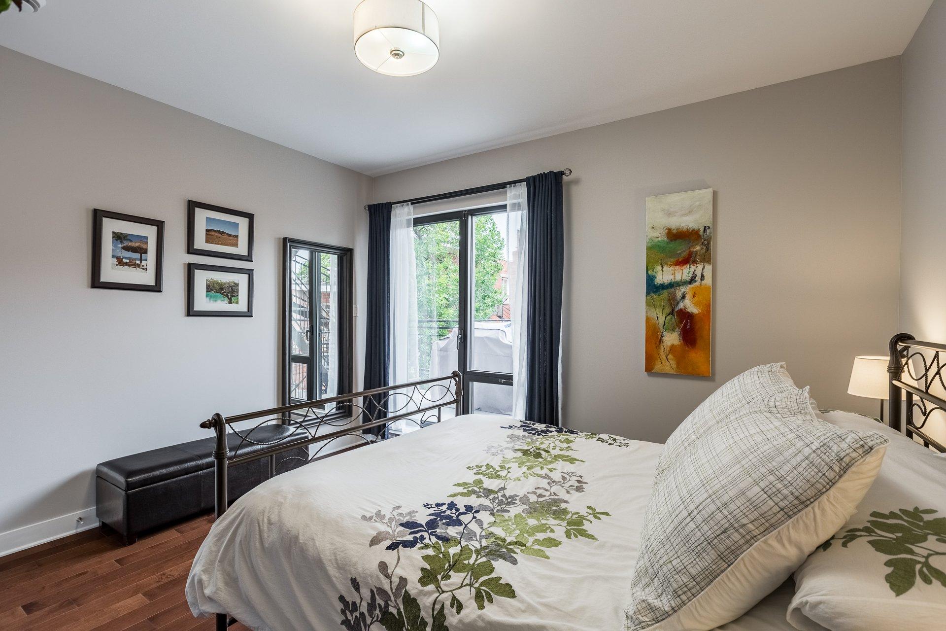 Chambre à coucher principale Condo Montréal (Villeray/Saint-Michel/Parc-Extension)